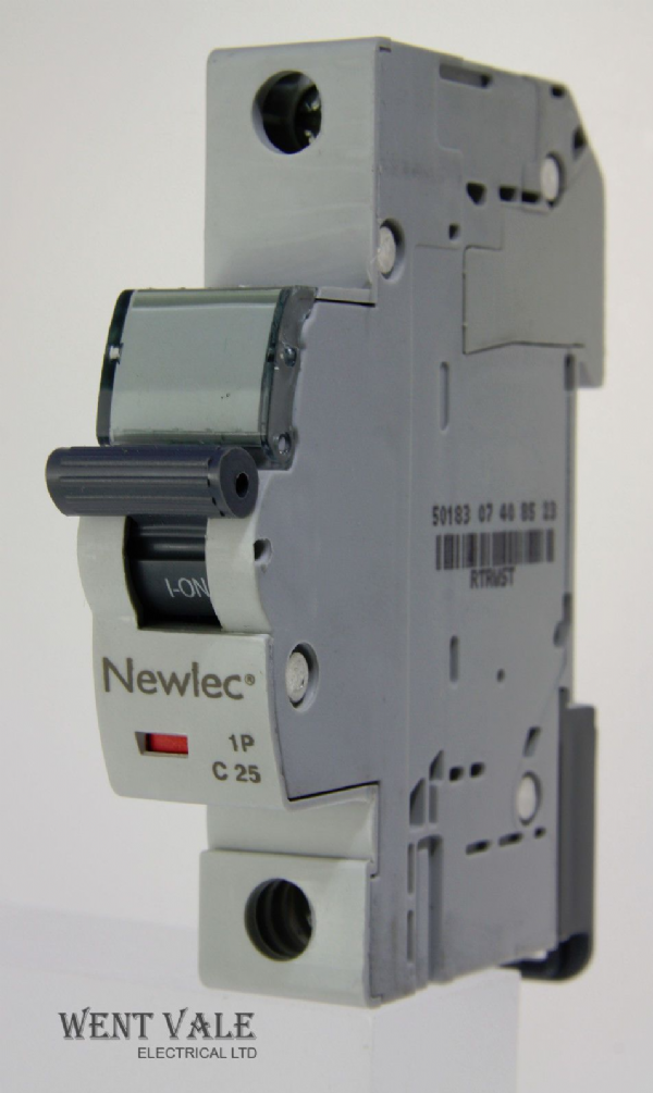 Newlec - NLMB125CA - 25a Type C Single Pole MCB Latest Model NEW